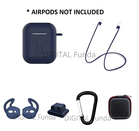 Amazon.com: DIGITAL Funda AirPods Silicone Case Full Set of ...