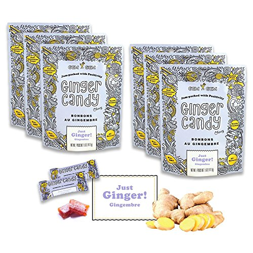 Gem Gem All Natural Chewy Ginger Candy 5 oz (Pack of 12)