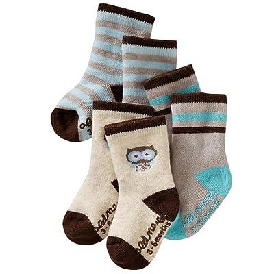 Alva Edison 3pairs Thick Cotton Baby Quarter Socks