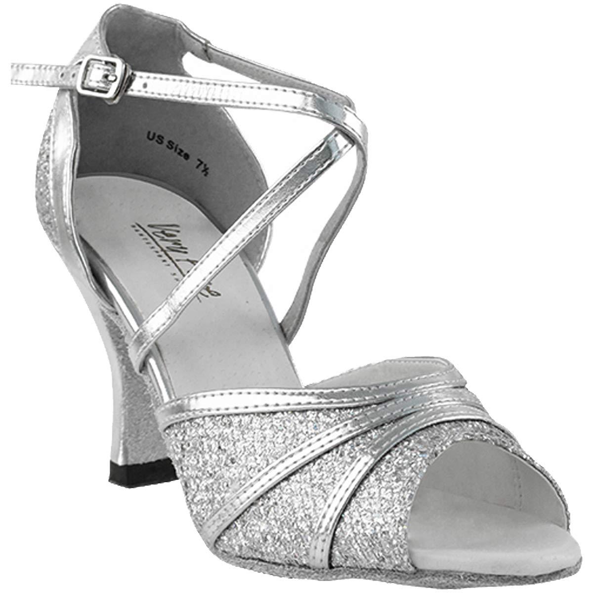 レディース社交ダンスシューズウェディングサルサタンゴ靴6023eb comfortable-very Fine 2.5