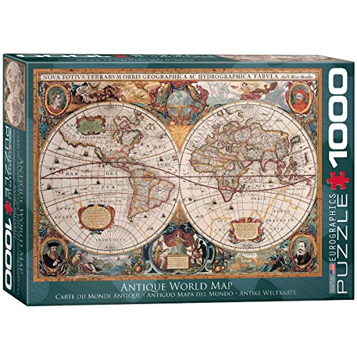 Antique Puzzle Box - EuroGraphics Antique World Map Puzzle (1000-Piece)