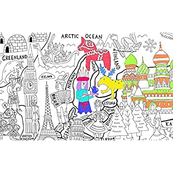 Amazon.com: A Set of 4, Giant Wall Size Coloring Posters for Kids ...