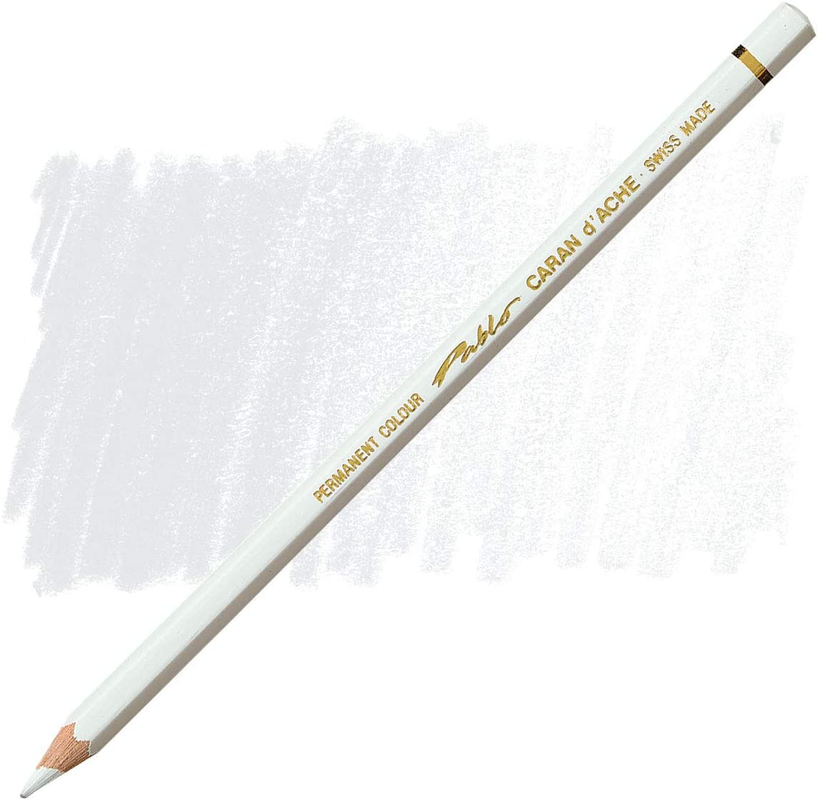 Caran D'ache Pablo Colored Pencil, White (666.001)