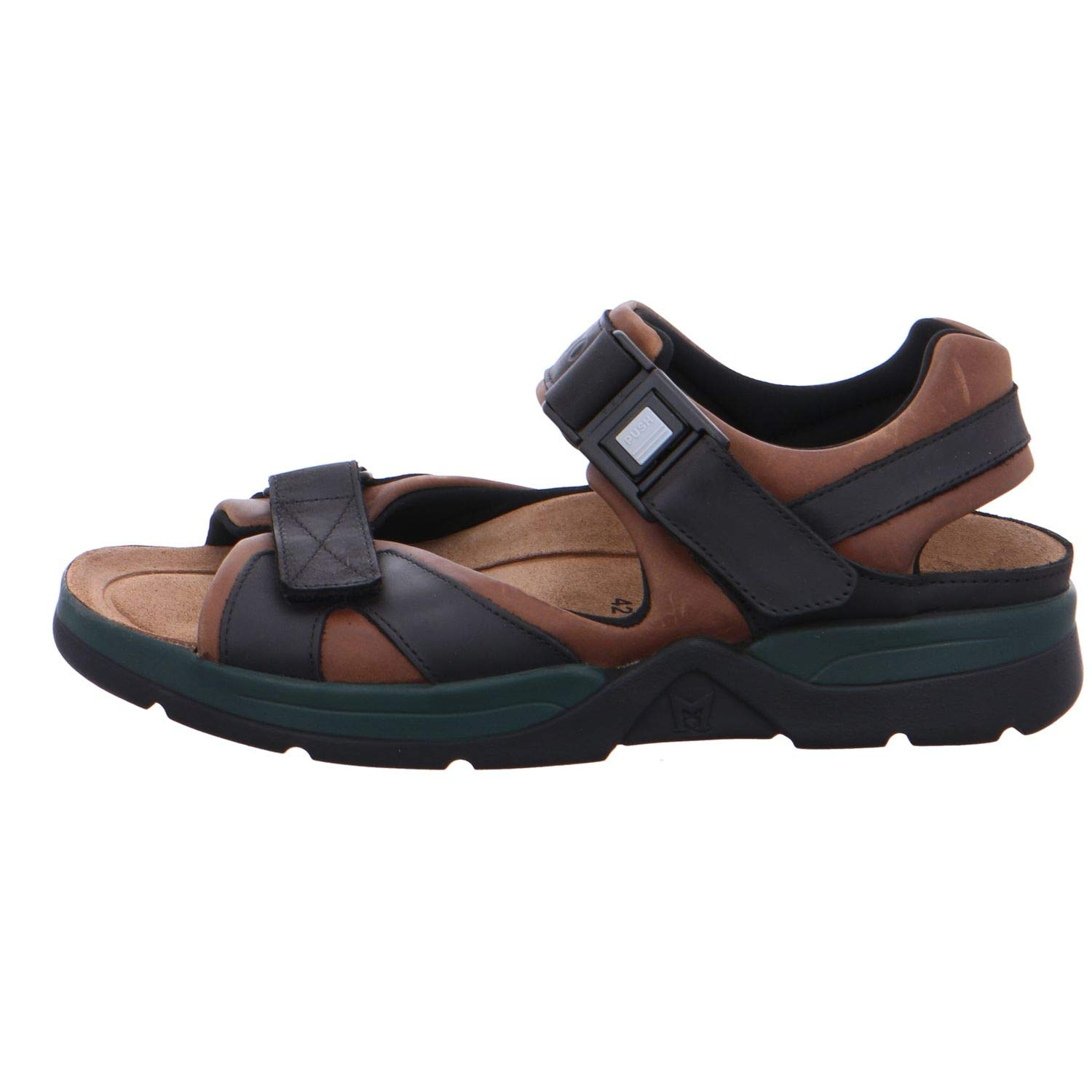 Mephisto Mens Shark Fit Leather Sandals