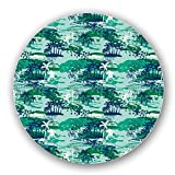 Uneekee Paradise Island Green Lazy Susan: Large, pure birch wooden Turntable Kitchen Storage