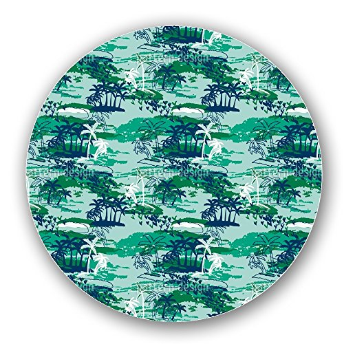 Uneekee Paradise Island Green Lazy Susan: Large, pure birch wooden Turntable Kitchen Storage by uneekee