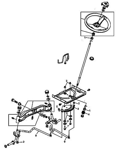 Amazon Com John Deere Tractor Steering Kit L100 L105 L107 L108