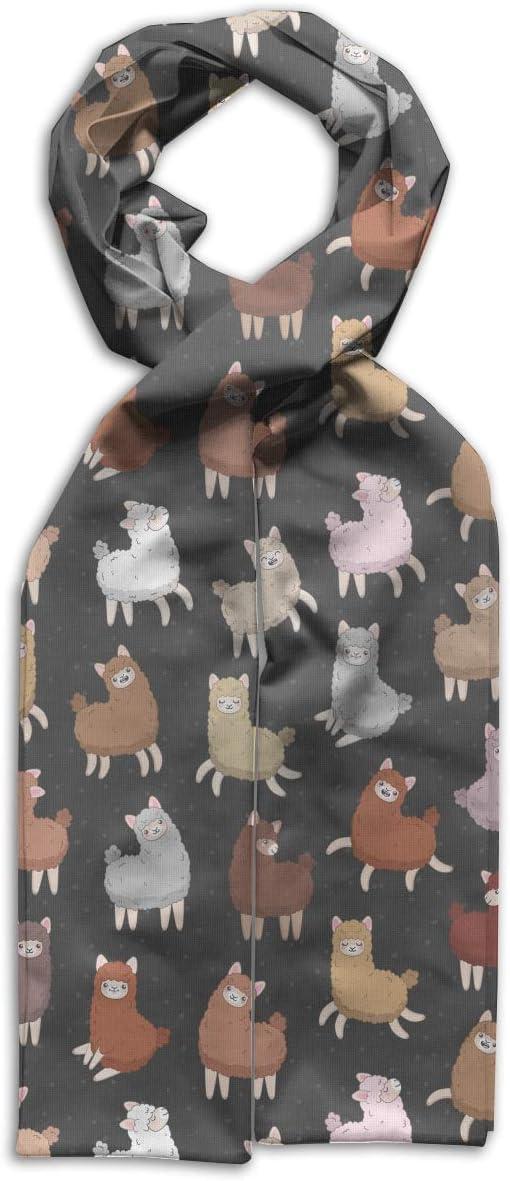 GQOP Kids Scarf Funny Llama Alpaca Lightweight Long Scarf Shawl Warps