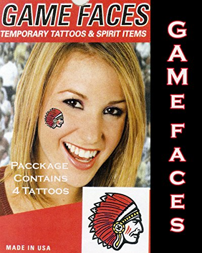 (Game Face Indians Temporary Tattoos)