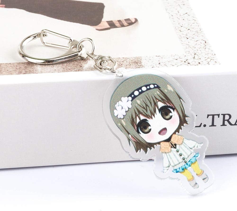 Cotrdocigh Portachiavi Tokyo Ghoul Ragazzi Style 01 Ciondolo Anime Giapponese Portachiavi Personaggio dei Cartoni Animati in Acrilico Kawaii per Bambini Adulti e Amanti del Anime