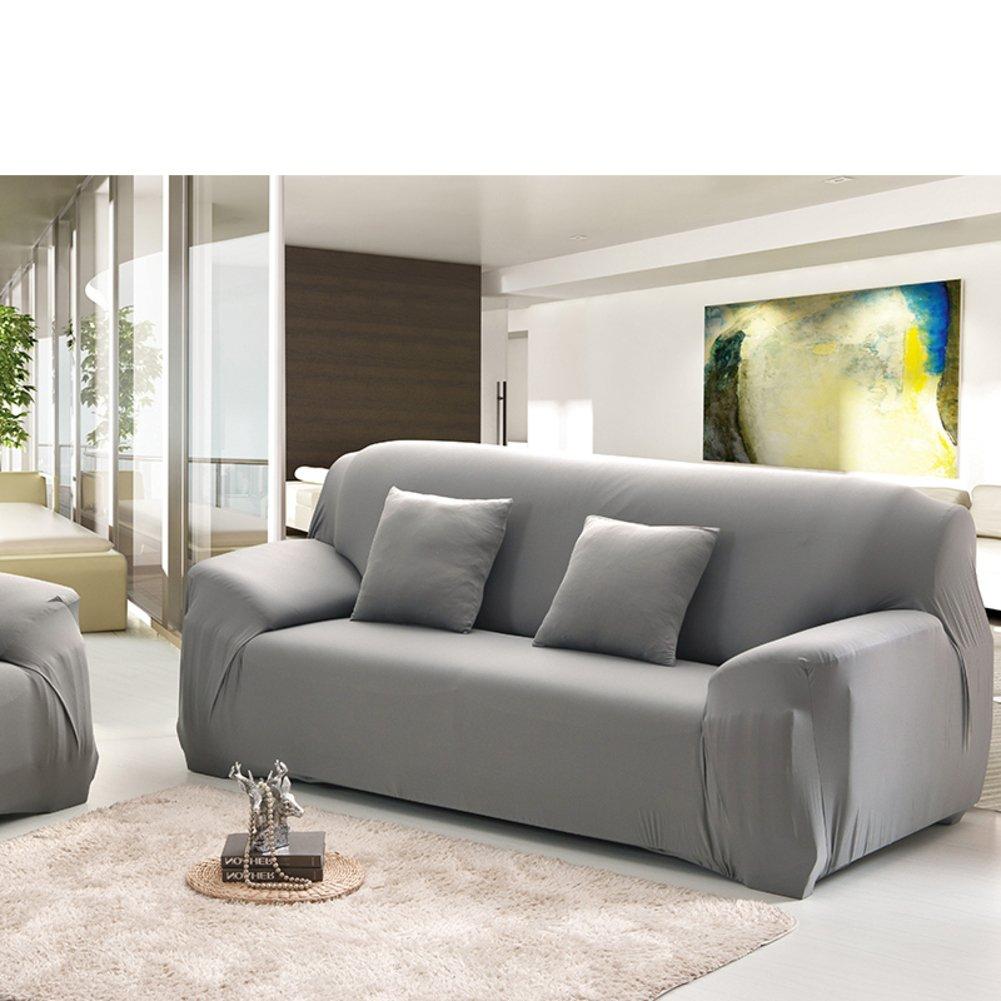 Anti-rutsch-Sofa slipcover,Sofa möbel Protector für Hund Hohe elastizität Couch-Abdeckung Volltonfarbe Schnittsofa werfen pad Für die ganze Saison-A 3 Seater (75  90inch)