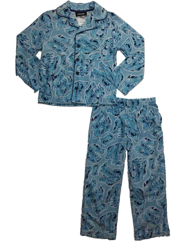 Joe Boxer Little Boys Blue /& White Tyranasaurus Rex Skull Skeleton Dinosaur Pajama Set