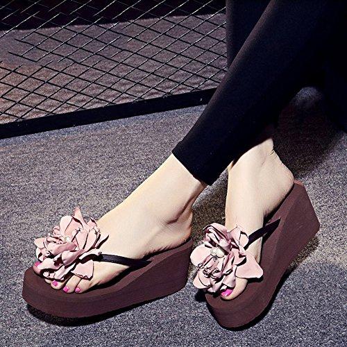 Beige pour de 18 UK3 Taille pour HAIZHEN Femmes Ans CN35 Femmes Couleur Femmes 5 Sandales Filles EU36 Chaussures pour Plage Marron Chaussures 7cm 40 5xwYTwqAP