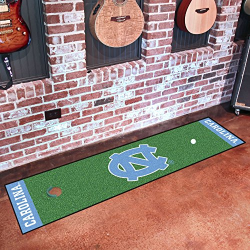 FANMATS NCAA UNC University of North Carolina - Chapel Hill Tar Heels Nylon Face Putting Green Mat