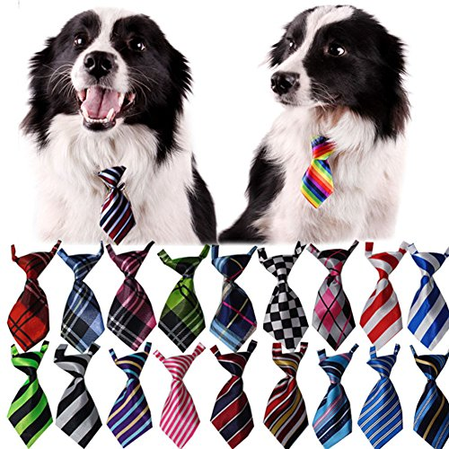 Bestag 30 Pcs/pack Cat Dog Bow Tie Collar - Pet Neckties (30 Pcs/pack)