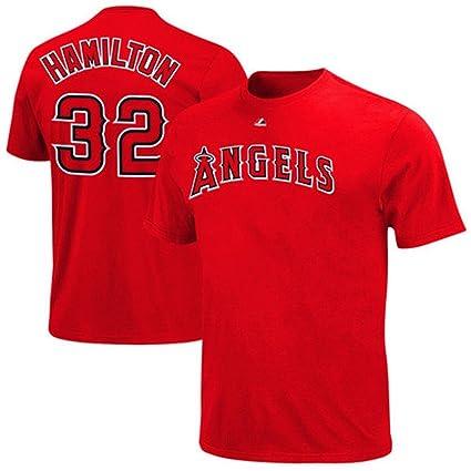 Mlb Baseball T-shirt Los Angeles Angels Josh Hamilton 32 Navy Fanartikel