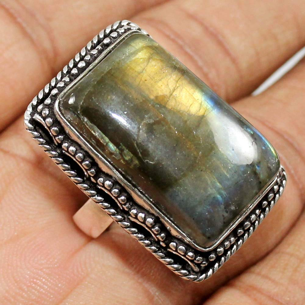 Pretty Sizable Brown Picture Jasper Sterling Silver Overlay 7 Grams Ring Size 7 US