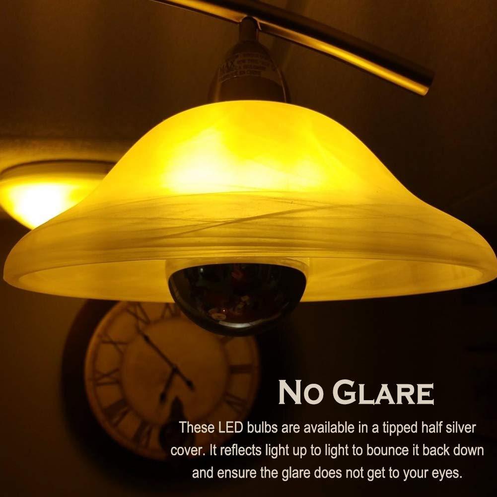 Half Chrome Light Bulb 6w 60 Watt Equivalent Dimmable