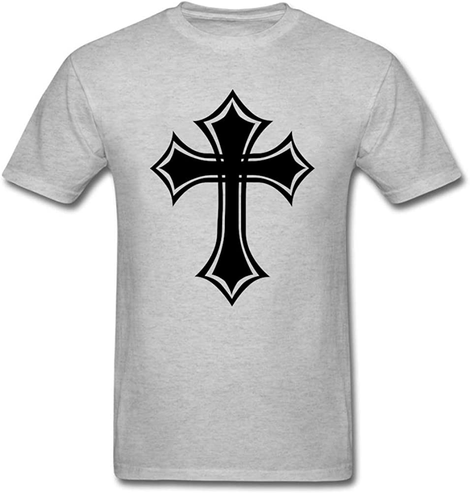 QLJYKJ - Camiseta de algodón para hombre, diseño de cruz celta gótica, color gris XXL: Amazon.es: Libros