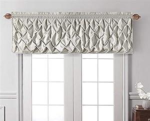 VCNY Home Carmen Tailored Window Valance, Window Treatment, 60