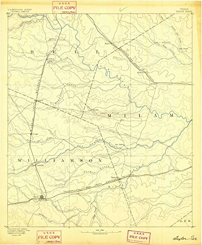 Taylor TX topo map, 1:125000 scale, 30 X 30 Minute, Historical, 1885, 20.1 x 16.6 IN - - Fair Map Of Valley