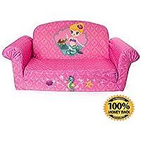 ArtMuseKit Children's 2 in 1 Mermaid Flip Open Foam Sofa