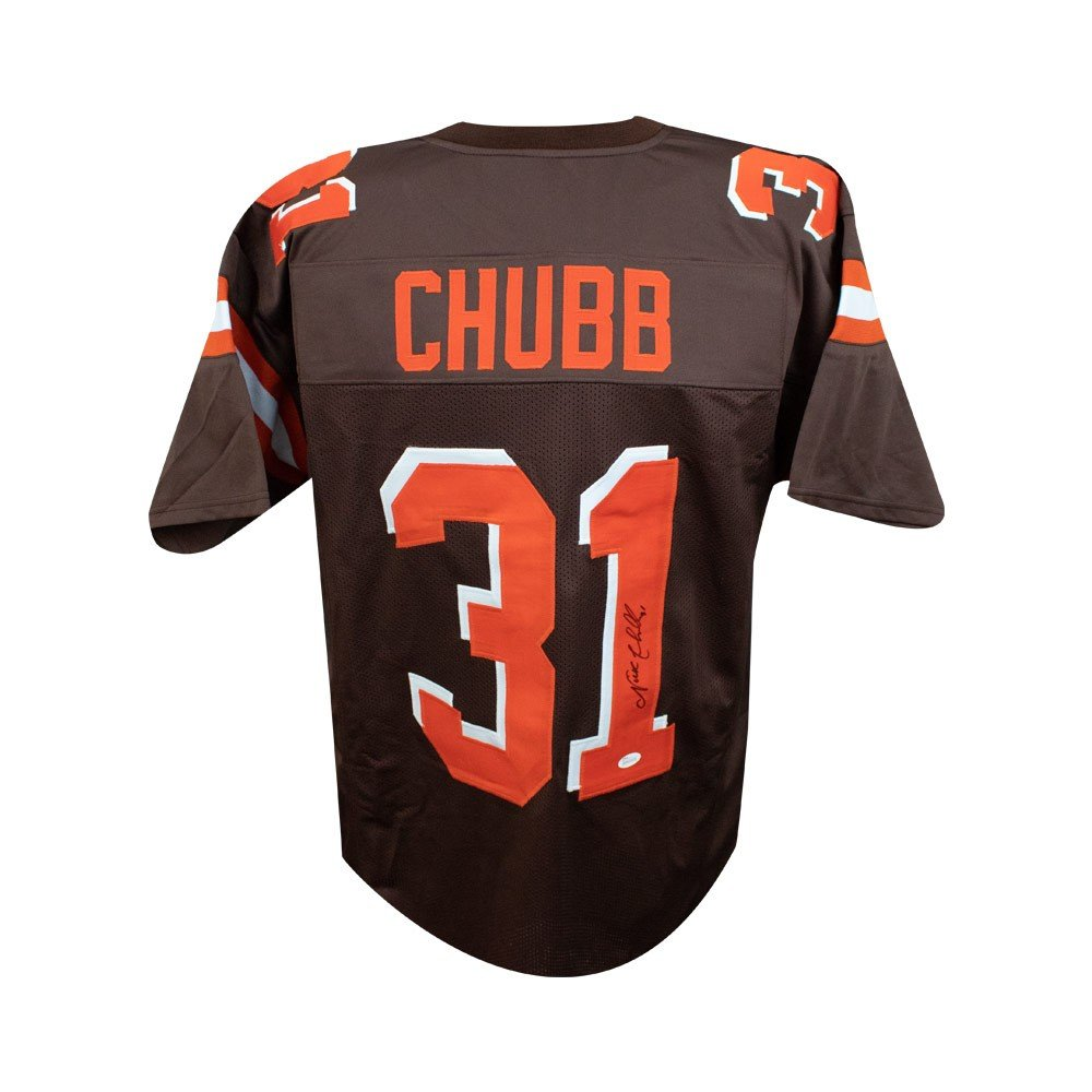 new concept c86aa 78d84 Nick Chubb Autographed Cleveland Browns Custom Brown ...