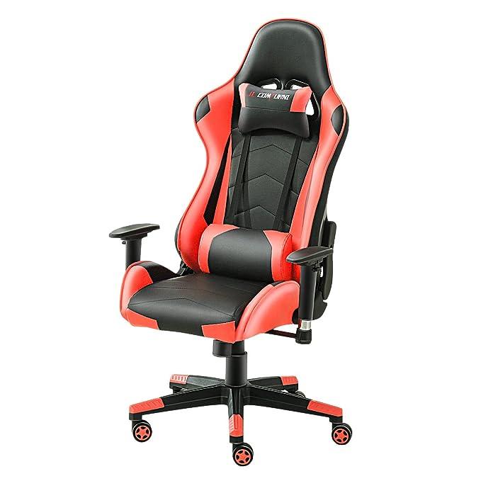 3 opinioni per JL Comfurn, sedia ergonomica girevole da ufficio, con schienale alto e