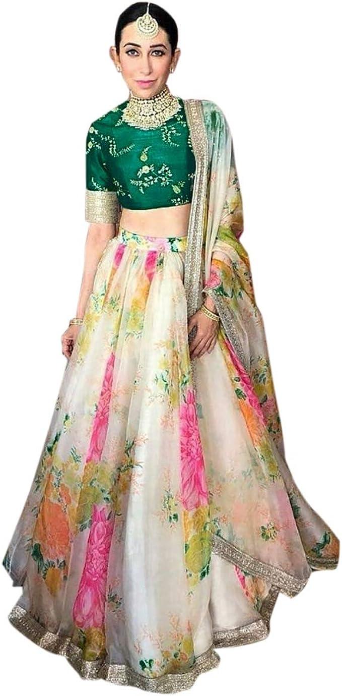 Amazon Com Lehenga Choli Party Wear Bridal Wedding Designer Lehenga Choli Semi Stitched Wedding Lehenga Choli For Women S Choice 1 Clothing