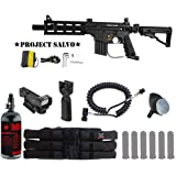 MAddog Tippmann U.S. Army Project Salvo Tactical HPA Red Dot Paintball Gun Package