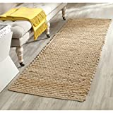 Safavieh Cape Cod Collection CAP355A Hand Woven Flatweave Natural Jute Runner (2'3 x 22')
