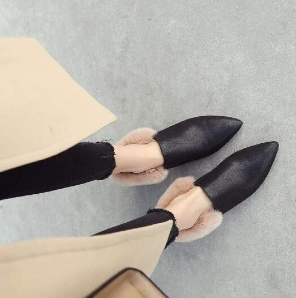 CN Schuhe Für Frauen Fallen Fallen Fallen Winter Spitze Dicke Niedrige Ferse Schuhe Mode Sowie Warme Damenschuhe Samt Für Hochzeit Im Freien Etc 513da4