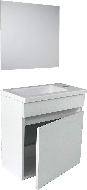 STARBATH PLUS - Conjunto Mueble Baño Suspendido MDF 40x22, Lavabo ...