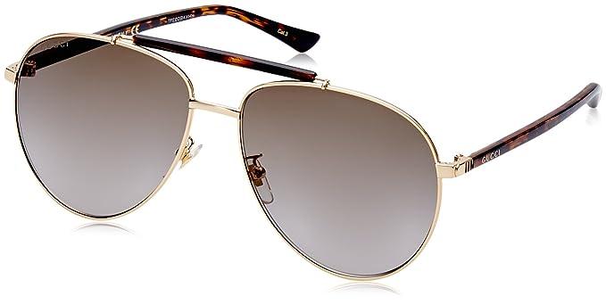 Gucci Herren Sonnenbrille GG0015S 003, Braun (Avana/Brown), 58