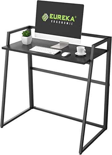 EUREKA ERGONOMIC Modern Folding Computer Desk Teen Student Dorm Study Desks 33-inch Fold up Desk