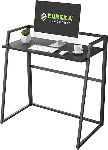EUREKA ERGONOMIC Modern Folding Computer Desk Teen Student Dorm Study Desks 33-inch Fold up Desk - the best home office desk for the money