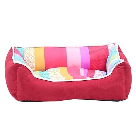 iBaste cuadrado de cama cachorro suave cama acolchada interior pequeño perro y gato almohadillas camas sofá