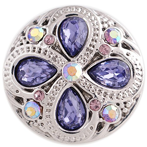 My Prime Gifts Interchangeable Snap Jewelry Rhinestone Light Purple & AB 18-20mm Snap ()