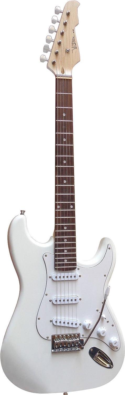 Guitare Electrique Strato 5 Coloris Au Choix ~ Avec Vibrato Et C/âble Blanc