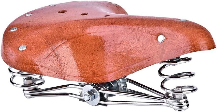 Cocoarm Fahrradsattel Federsattel Vintage Classic Fahrradsitz PU Ledersitz Radsport Bequemes Sitzkissen Cityrads/ättel f/ür Mountainbike Rennrad