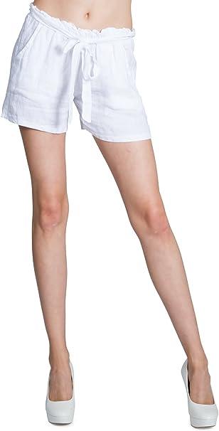 Caspar BST005 Donna Shorts di Cotone