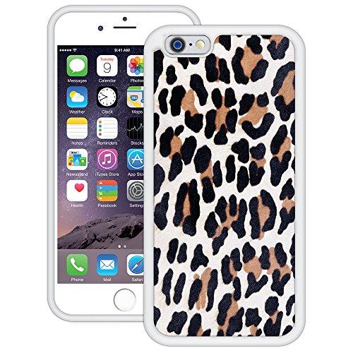 Leopard Druck 1 | Handgefertigt | iPhone 6 6s (4,7') | Weiß TPU Hülle