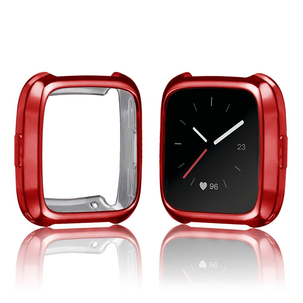 Geekercity 6 Pack Fitbit Versa Case, Soft TPU Plated Protective Case Cover Silicone Shock Resistant Frame Shatter-resistant Protector Shell for Fitbit Versa Fitness Smart Watch by Geekercity (Image #2)