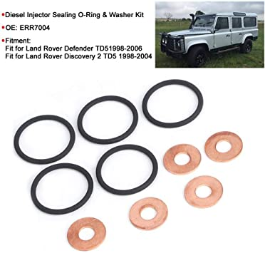 WASHER LAND ROVER 2.4 DIESEL INJECTOR SEAL RETURN  O-RING X 4