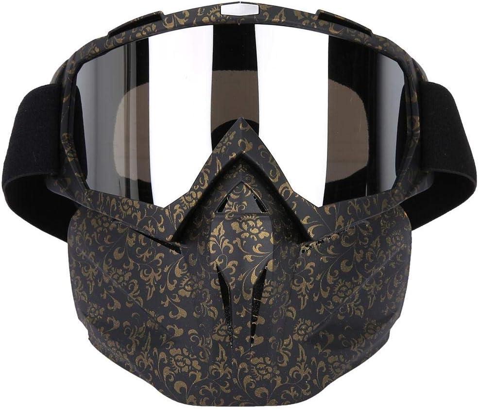 SolUptanisu Gafas de Motocross Deportes al Aire Libre Gafas Anti-Viento Anti-Arena Gafas Protectoras Ajustables Motociclismo Gafas Protecci/ón de los Ojos Gafas para Ciclismo Viaje