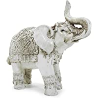 Elefante Indiano da Sorte e Sabedoria Escultura Resina 21 cm