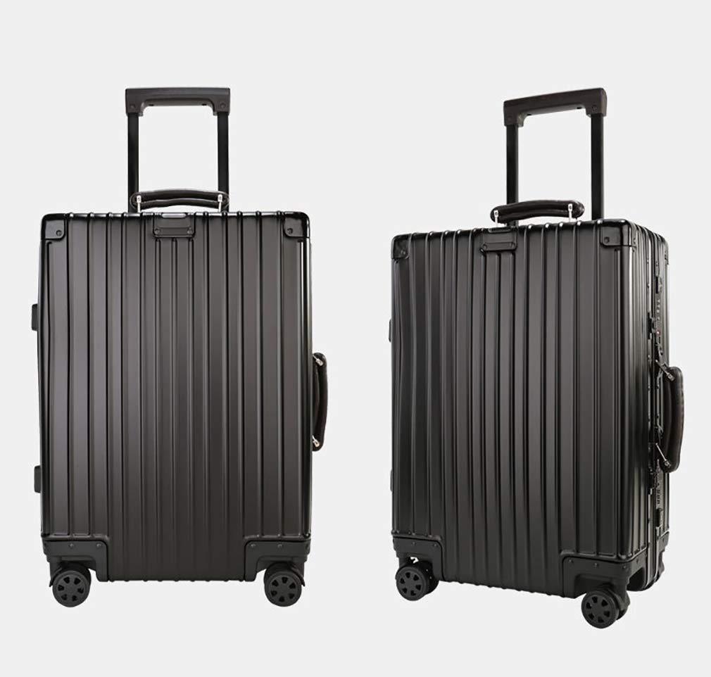 Rayem Fashion Luggage, Universal Wheel Aluminum Frame Trolley case, Ultra-Light and Durable Password Suitcase (Color : Black, Size : 20) by Rayem (Image #2)