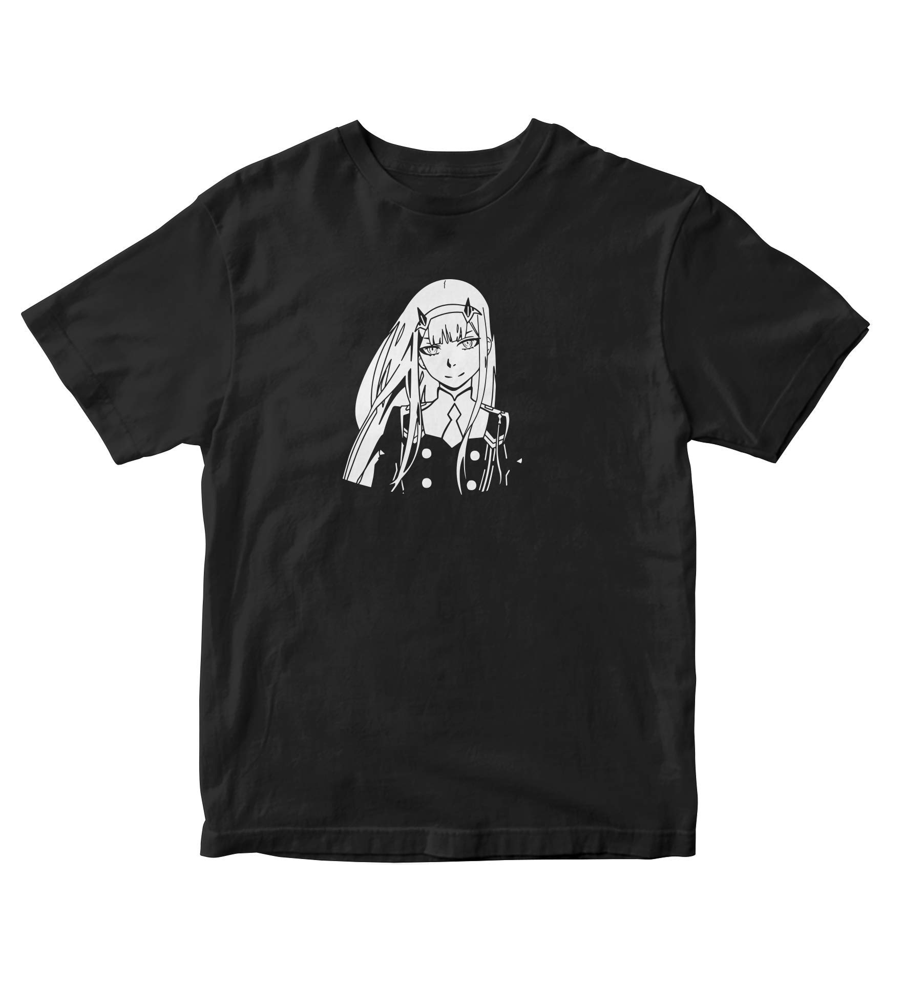 Zero Two Silhouette Shirt Darling In The Franxx Anime Manga Man S Black A836