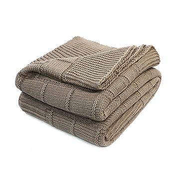 Amazon.com: Manta Mhjy, manta gruesa de punto para sofá ...