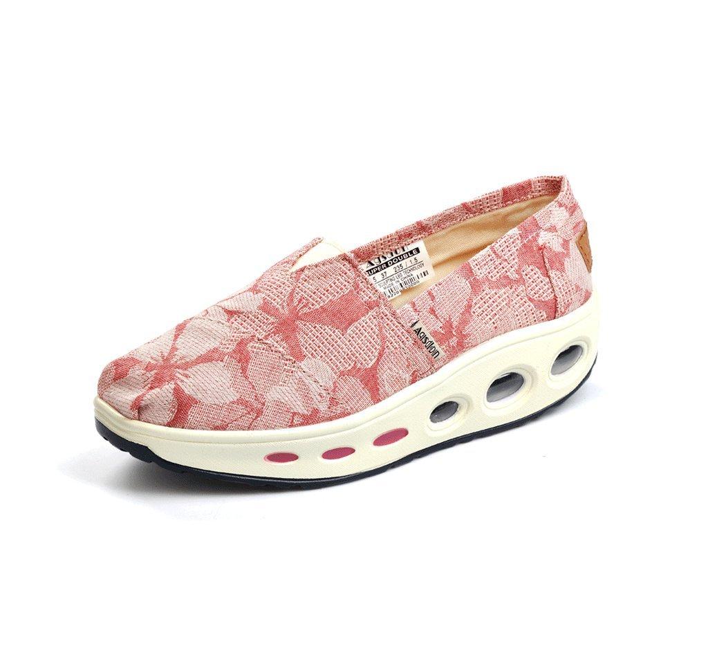 Zapatos de lona transpirable zapatos ocasionales al aire libre zapatos antiguos de Beijing calzado zapatos de damas ( Color : Pink , Tamaño : 40 ) 40|Pink